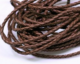 parcel 11 brown leather necklaces Bu 2490