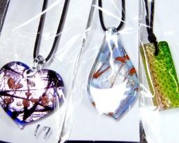 PARCEL THREE VENETIAN GLASS PENDANTS GTT 736