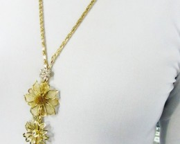 LONG FOWERS FASHION STYLE NECKLACE QT 446