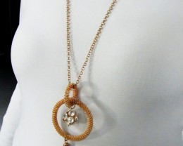 BRONZE RING LONG FASHION NECKLACE QT 445
