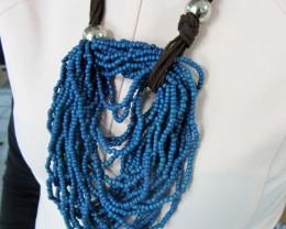 UNIQUE BLUE JEANS STYLE BEADS NECKLACE QT169