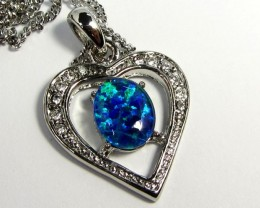 ATTRACTIVE OPAL  HEART FASHION PENDANT CSS 181