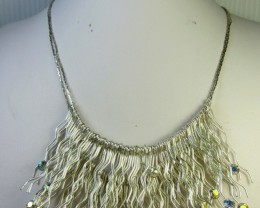 FASHION SILVER WIRE DROP STYLE NECKLACE QT267