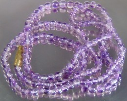 "Natural amethyst stone beads necklace 4.5-4.8mm &32;"" size"