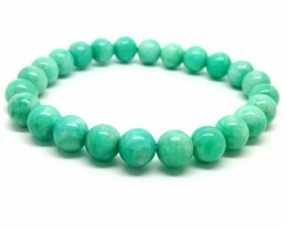 81 CT AMAZONITE BEADS BRACELET  HIGH QUALITY  GOODS 8MM