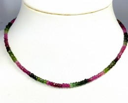 50 CT TOURMALINE MULTI COLOR FACETED BEADS NECKLACE COLLECTION