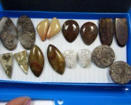 8 MIXED GEMSTONE EARRINGS-RE SELLERS PARCEL  MYGM492