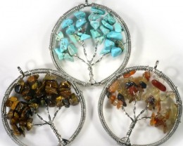 ThreeTree of Life Gemstones jewelry JGG 190