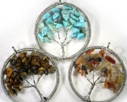 ThreeTree of Life Gemstones jewelry JGG 190