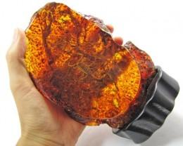 Real scorpion in Amber like display MYGM 1684