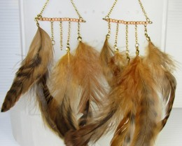 EARTHY FEATHER EARRINGS QT 343