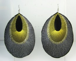 FEATHER SHAPE LARGE EARRINGS QT 34