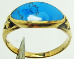 TURQUIISE BRONZE RING SIZE 7 QT 708