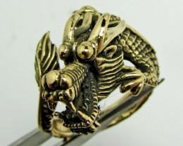 DRAGON ADJUSTABLE BRONZE RING SIZE 9QT703