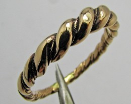 LARGE ROUND TWISTED BRONZE RING SIZE 14 QT 699