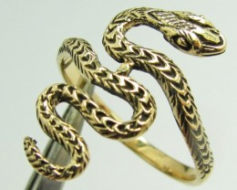 SNAKE BRONZE RING SIZE5 QT 693