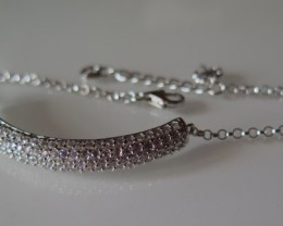 STERLING SILVER BRACELET AND CZ