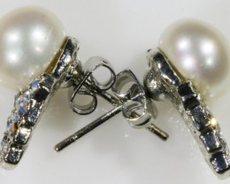 8 mm fresh water pearl earrings PPP1227