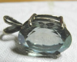 New Labradorite faceted gemstone pendant with sterling silver bail
