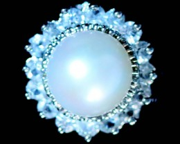 Ring size 8 fresh water pearl Ring PPP 1254