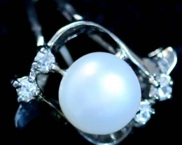 Ring size 6fresh water pearl Ring PPP 1271