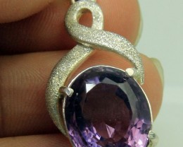 Most Beautiful hand made Amethyst Pendant In 925 Standard Silver in New Sty