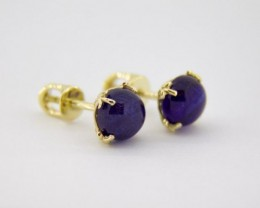 14k Gold earring with sapphires