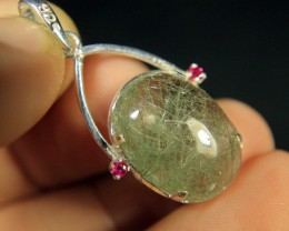 Wow Very Beautiful Hand Made Silver Pendant Collector's Gem.