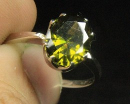 Wow Very Beautiful Brownish Green CZ Zirconia .