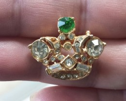 VINTAGE CROWN BROOCH / PIN GIFT PIECE GREAT FOR BRIDAL BOUQUET