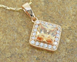 No Reserve 18kt Gold Filled Rose Gold Pendant