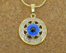No reserve 14kt Gold Filled 'Evil Eye' Pendant