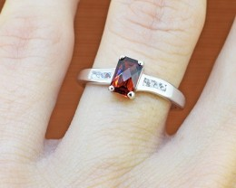Natural Pyrope Garnet 925 Sterling Silver Ring SIZE - 5 US (SSR0259)
