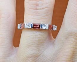 Natural Rhodolite Garnet 925 Sterling Silver Ring SIZE - 5 US (SSR0258)