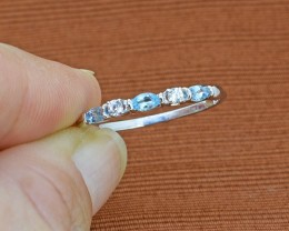 Natural Topaz 925 Sterling Silver Ring SIZE - 8 US (SSR0257)