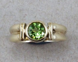 Peridot set in nine carat gold