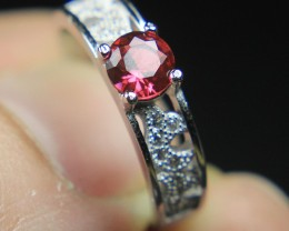 Wow Very Beautiful Red CZ Zirconia Ring For Teenage.