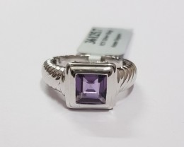 Unisex ring Amethyst 925 Sterling silver #125