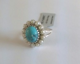 Turquoise Genuine 925 Silver 36009
