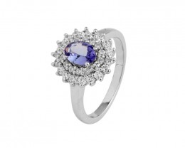 VVS Tanzanite Genuine 925 Sterling  Silver 36479