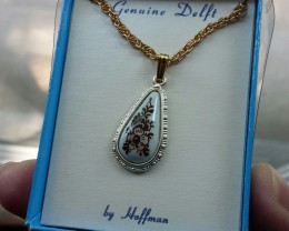 Delft by Hoffman Vintage PENDANT / Necklace