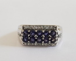 Iolite Genuine RING 925 Silver 36603