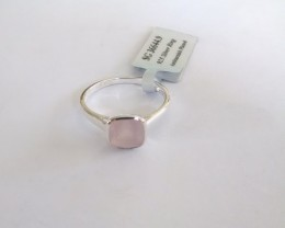 Rose quartz Genuine RING 925 Silver #644