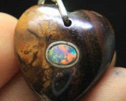 Opal Fix in Opal Mother Rock Pendant From Australia