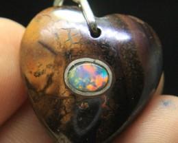 Opal Fix in Opal Mother Rock Pendant From Australia