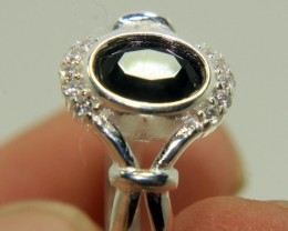 Wow Very Beautiful Black & White CZ Zirconia .