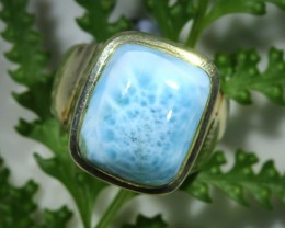 AUTHENTIC  LARIMAR  RING SIZE 7 [SJ1553]