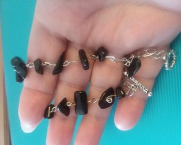 BLACK AGATE BRACELETE AUTHENTIC GEMSTONE BRACELETE