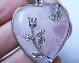 Heart shape Rose Quartz Pendant BU1225