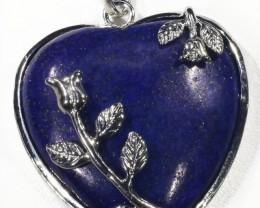 Heart Shape lapis lazuli pendant PPP1196